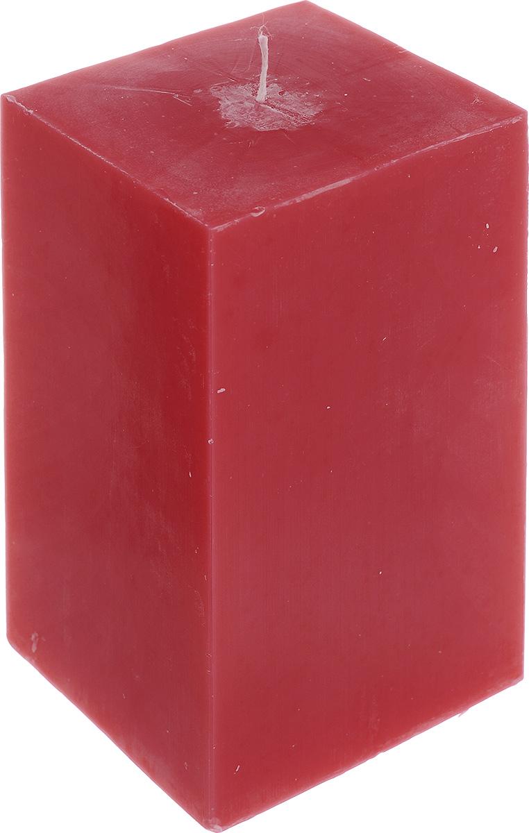 Свеча декоративная Proffi Квадрат, цвет: бордовый, 9,5 х 9,5 х 17,5 смRG-D31SСвеча Proffi Квадрат выполнена из парафина и стеарина в классическом стиле. Изделие порадует вас ярким дизайном. Такую свечу можно поставить в любое место, и она станет ярким украшением интерьера. Свеча Proffi Квадрат создаст незабываемую атмосферу, будь то торжество, романтический вечер или будничный день.