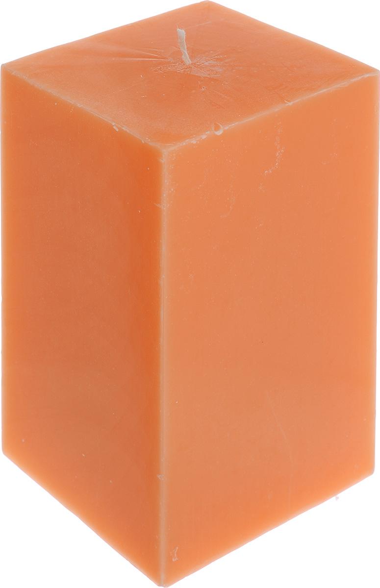 Свеча декоративная Proffi Home Квадрат, цвет: оранжевый, 9,5 х 9,5 х 17,5 см12723Свеча Proffi Home Квадрат выполнена из парафина и стеарина в классическом стиле. Изделие порадует вас ярким дизайном. Такую свечу можно поставить в любое место, и она станет ярким украшением интерьера. Свеча Proffi Home Квадрат создаст незабываемую атмосферу, будь то торжество, романтический вечер или будничный день.