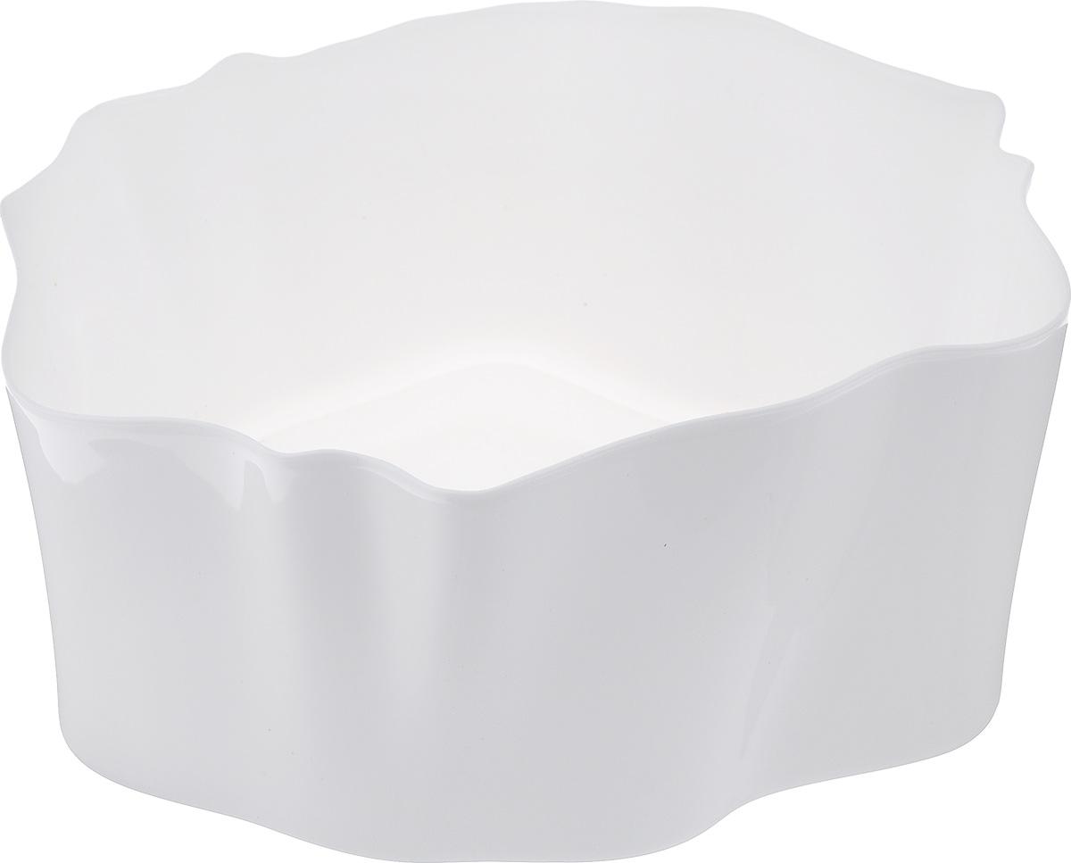 Органайзер Qualy Flow, цвет: белый, 25,5 х 25,5 х 11,5 см74-0120Органайзер Qualy Flow может пригодиться на кухне, в ванной, в гостиной, на даче, на природе, в городе, в деревне. В него можно складывать фрукты, овощи, хлеб, кухонные приборы и аксессуары, всевозможные баночки, можно использовать органайзер как мусорную корзину, вазу. Все зависит от вашей фантазии и от хозяйственных потребностей! Пластиковый оригинальный органайзер пригодится везде!