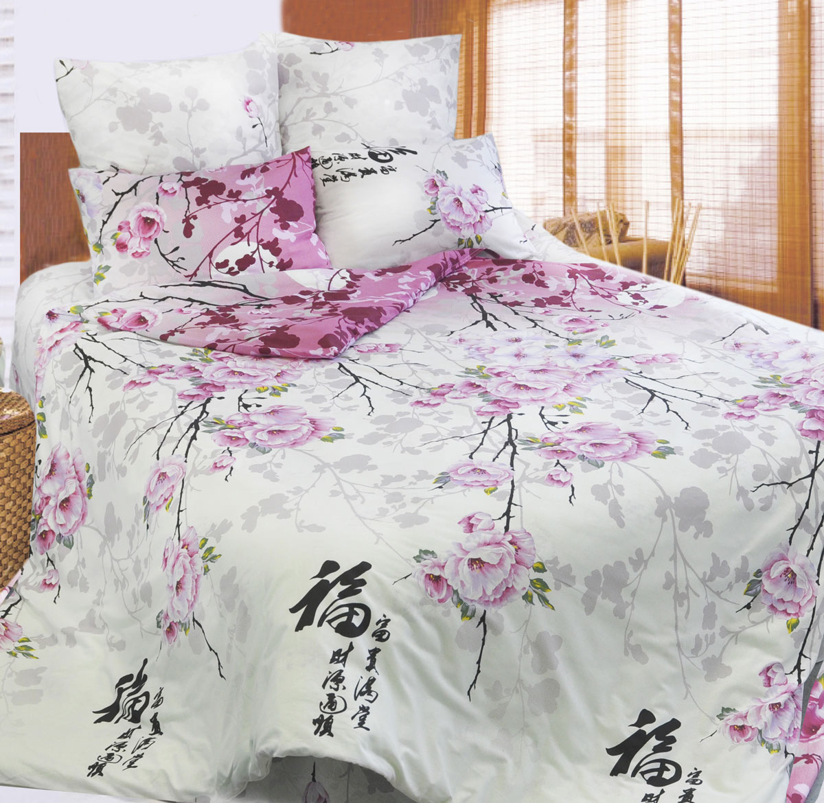 Комплект белья Sova & Javoronok Японский мотив, евро, наволочки 50х70, цвет: белый, розовый, желтыйТ-0752-01 И_1,5Комплект постельного белья Sova & Javoronok Японский мотив является экологически безопасным для всей семьи, так как выполнен из бязи (100% натурального хлопка). Комплект состоит из пододеяльника, простыни и двух наволочек. Предметы комплекта оформлены изображением цветущей сакуры и иероглифами.Бязь - хлопчатобумажная ткань полотняного переплетения без искусственных добавок. Большое количество нитей делает эту ткань более плотной, более долговечной. Высокая плотность ткани позволяет сохранить форму изделия, его первоначальные размеры и первозданный рисунок. Обладает низкой сминаемостью, легко стирается и хорошо гладится.
