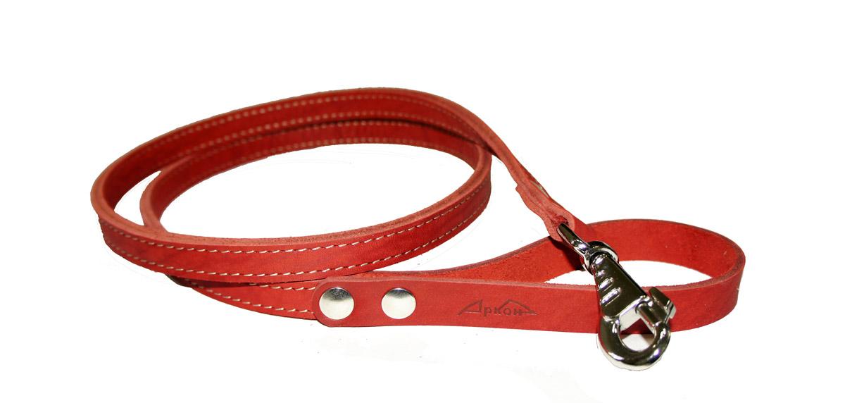 Поводок для собак Аркон Стандарт, цвет: красный, ширина 1,6 см, длина 140 смп16/2крПоводок для собак Аркон Стандарт изготовлен из высококачественной натуральной кожи. Карабин выполнен из легкого сверхпрочного сплава. Изделие отличается не только исключительной надежностью и удобством, но и привлекательным современным дизайном.Поводок - необходимый аксессуар для собаки. Ведь в опасных ситуациях именно он способен спасти жизнь вашему любимому питомцу. Иногда нужно ограничивать свободу своего четвероногого друга, чтобы защитить его или себя от неприятностей на прогулке. Длина поводка: 140 см.Ширина поводка: 1,6 см.