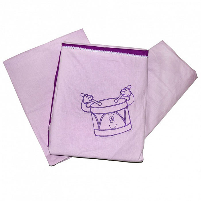 Топотушки Комплект белья для новорожденных До-ре-ми цвет сиреневый 3 предметаS03301004Комплект белья для новорожденных Топотушки До-ре-ми выполнен в нежных тонах и украшен вышивкой. Комплект белья До-ре-ми создаст комфорт и уют в кроватке малыша и обеспечит крепкий и здоровый сон, а современный дизайн и цветовые сочетания помогут ребенку адаптироваться в новом для него мире. Комплект белья для новорожденных Топотушки До-ре-ми хорошо впишется в интерьер как детской комнаты, так и спальни родителей. Цветовые и дизайнерские решения - плоды совместных трудов европейских дизайнеров и российских технологов - делают внешний вид комплекта роскошным и незабываемым. Качество материала обеспечивает легкость стирки и долговечность. Комплект включает в себя наволочку 60 см х 40 см, пододеяльник 147 см х 112 см, простыню на резинке 60 см х 120 см.