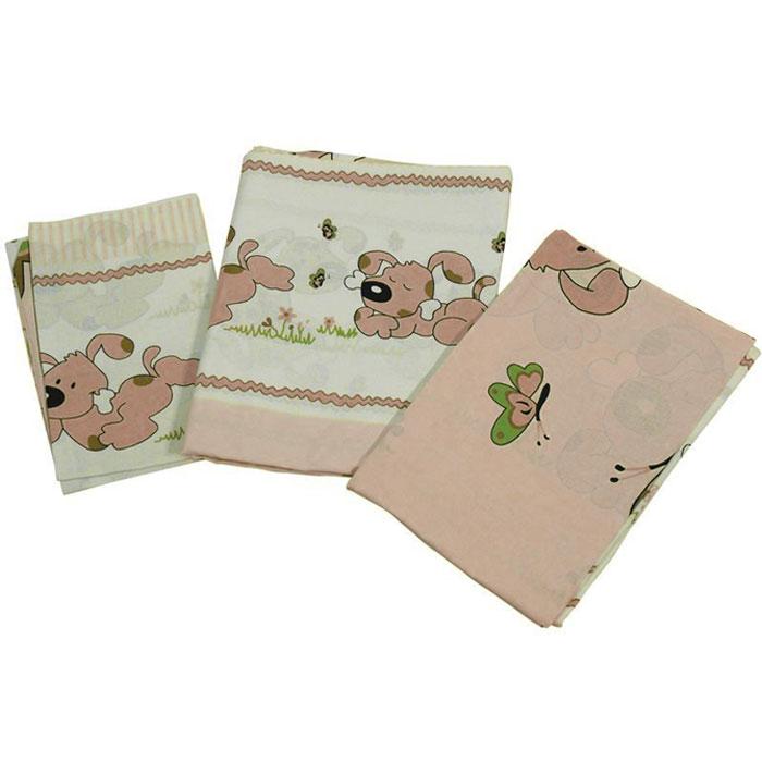 Топотушки Комплект белья для новорожденных Дружок цвет коричневый 3 предмета4630008870679Комплект белья для новорожденных Топотушки Дружок выполнен в нежных тонах и украшен забавным рисунком. Комплект белья Дружок создаст комфорт и уют в кроватке малыша и обеспечит крепкий и здоровый сон, а современный дизайн и цветовые сочетания помогут ребенку адаптироваться в новом для него мире. Комплект белья для новорожденных Топотушки Дружок хорошо впишется в интерьер как детской комнаты, так и спальни родителей. Цветовые и дизайнерские решения - плоды совместных трудов европейских дизайнеров и российских технологов - делают внешний вид комплекта роскошным и незабываемым. Качество материала обеспечивает легкость стирки и долговечность. Комплект включает в себя наволочку 60 см х 40 см, пододеяльник 146 см х 104 см, простыню 140 см х 95 см.