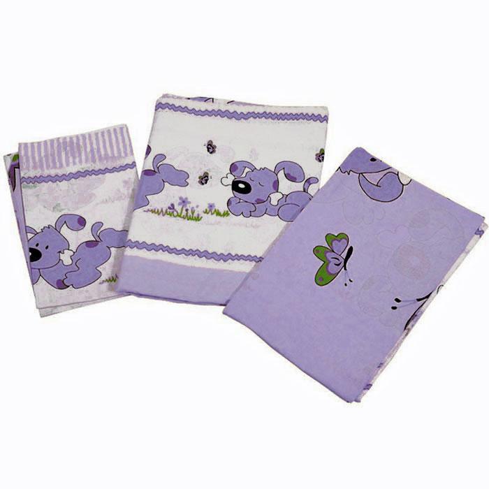 Топотушки Комплект белья для новорожденных Дружок цвет сиреневый 3 предметаS03301004Комплект белья для новорожденных Топотушки Дружок выполнен в нежных тонах и украшен забавным рисунком. Комплект белья Дружок создаст комфорт и уют в кроватке малыша и обеспечит крепкий и здоровый сон, а современный дизайн и цветовые сочетания помогут ребенку адаптироваться в новом для него мире. Комплект белья для новорожденных Топотушки Дружок хорошо впишется в интерьер как детской комнаты, так и спальни родителей. Цветовые и дизайнерские решения - плоды совместных трудов европейских дизайнеров и российских технологов - делают внешний вид комплекта роскошным и незабываемым. Качество материала обеспечивает легкость стирки и долговечность. Комплект включает в себя наволочку 60 см х 40 см, пододеяльник 146 см х 104 см, простыню на резинке 140 см х 95 см.