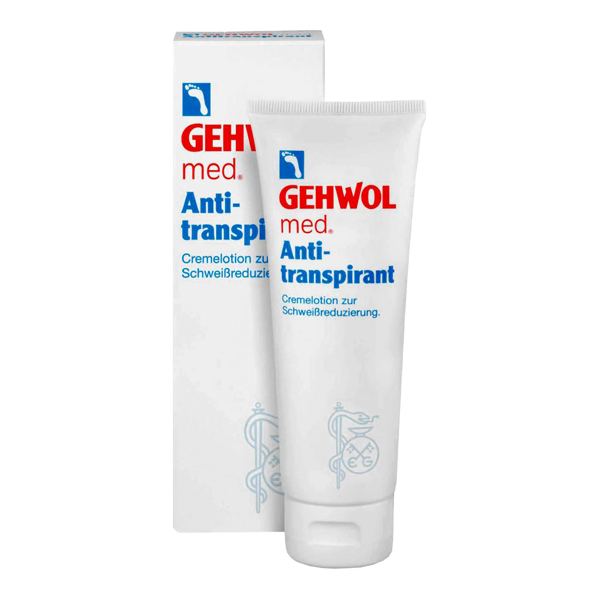 Gehwol Anti-Transpirant - Крем-лосьон антиперспирант для ног 125 мл02011201Крем-лосьон Антиперспирант (Gehwol Anti-Transpirant) идеальное средство для решения проблемы потоотделения. Регулярное ежедневное применение крем-лосьона регулирует выделение пота, предотвращает появление неприятного запаха и возникновения зуда между пальцами.Активные компоненты в составе Антиперспиранта обеспечивают коже ног комплексный уход - алое вера, масло авокадо и глицерин питают кожу, придавая ей мягкость и эластичность. Сочетаниие гидроксихлорида алюминия и цинка рицинолеата уменьшает интенсивность потоотделения и устраняет неприятный запах на продолжительное время.