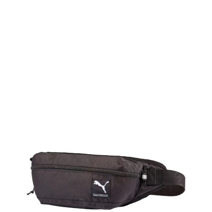 Поясная сумка Puma Academy Waist Bag, цвет: черный. 07299401BFB-301 dark blueЭта очень практичная сумка на пояс от Puma поможет носить с собой необходимые предметы в сохранности и порядке. Застежка-молния для главного отделения. Дополнительный карман на молнии спереди – очень практично. Регулируемый пояс и застежка-фастекс. Смягченная внутренняя сторона для улучшенного комфорта.