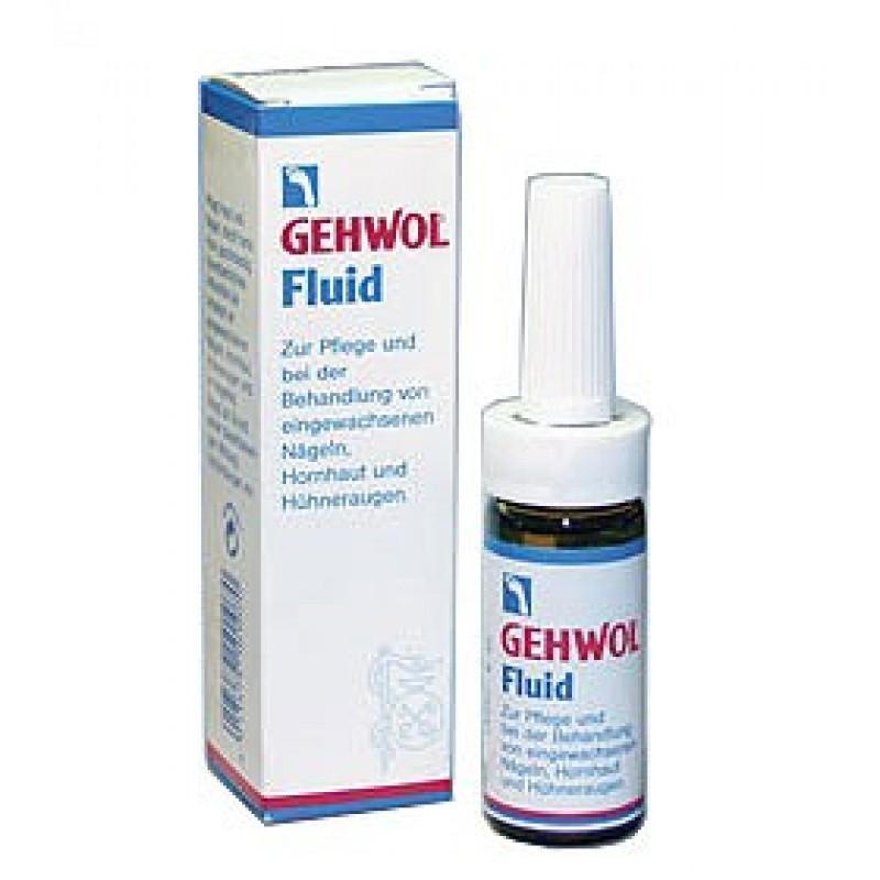 Gehwol Fluid - Жидкость Флюид для ног 15 млFS-00103Жидкость Флюид (Gehwol Fluid ) содержит ингредиенты из тимьяна, ромашки и гвоздики, которые смягчают и дезинфицируют кожу. Жидкость «Флюид» возвращает ногтям и коже вокруг них ухоженный вид и эластичность.Назначение: средство для ухода за жесткой, загрубевшей кожей вокруг ногтей, обработки и лечения вросших ногтей, мозолей.