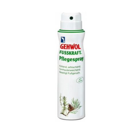 Gehwol Fusskraft Caring Foot Spray - Актив-спрей для ног 150 мл300859Актив-спрей Геволь Фусскрафт (Gehwol Fusskraft Caring Foot Spray) освежает, дезодорирует кожу ног и охлаждает, благодаря содержанию ментола. Натуральные эфирные масла розмарина и лаванды ухаживают за кожей ног и способствуют восстановлению.Благодаря эфирному маслу горной сосны и фарнезолу предотвращает возникновение грибковых инфекций. Фарнезол оказывает нормализующее воздействие на процесс потоотделения. Пантенол и бисаболол смягчают и питают кожу. Мочевина (Уреа) и лимонная кислота обеспечивают увлажнение, необходимое коже, и защищают от образования загрубевшей кожи, аллантоин оказывает тонизирующее воздействие, укрепляя стенки сосудов.
