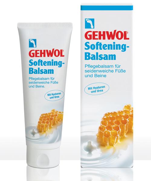 Gehwol Softening - Ухаживающий бальзам для ног 125 млKM 0008Геволь Ухаживающий бальзам интенсивно увлажняет кожу ног и стоп благодаря глубоко действующей гиалуроновой кислоте, экстрактам меда и молочными пептидам, придающими коже упругость, шелковистость и ухоженный вид. Благоприятно действующие на кожу липиды в комбинации с питательным маслом авокадо и гиалуроновой кислотой, произведенной по специальной биотехнологии, способствуют регенерации кожи и усиливают ее защитные свойства. Молочные протеины и экстракт меда оказывают эффективное увлажняющее и смягчающее действие, придавая коже эластичность и мягкость. Гиалуроновая кислота в сочетании с мочевиной удерживает влагу в глубоких слоях кожи, а также предотвращает появление загрубевшей кожи. Результат - шелковистая, гладкая и ухоженная кожа ног и стоп.