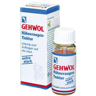 Gehwol Huhneraugen tinktur - Мозольная настойка 15 млMP59.4DМозольная настойка Геволь (Gehwol Huhneraugen tinktur это высококонцентрированное средство с сильным проникающим свойством. Используется для устранения мозолей и загрубевшей кожи.Средство особенно эффективно при удалении поверхностных мозолей и натоптышей. При более глубоком корне мозолей средство эффективно при их высверливании в процессе аппаратного педикюра.