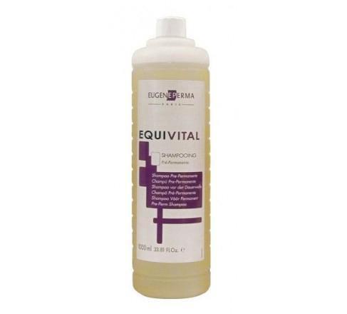 Eugene Perma Pre-Perm Shampoo Equivital - Шампунь перед химической завивкой 1000 млFS-00897Эффективно удаляет примеси, которые могут замедлить проникновение лосьона при завивке. Содержит протеины пшеницы. Защищает и питает волосы.