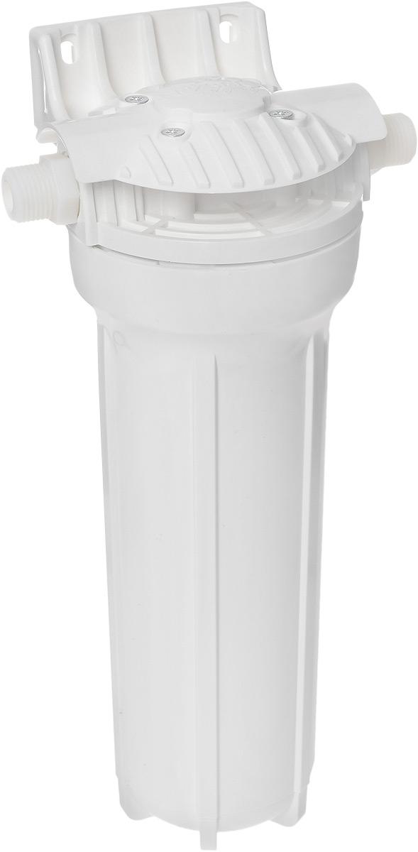 Магистральный фильтр для холодной воды Гейзер 1П, 1/2, размер 1068/5/3Фильтр Гейзер 1П 1/2 производит тонкую очистку холодной воды от взвешенных частиц (более 5 мкм). В фильтре Гейзер 1П 1/2 используется картридж РР 5 - 10SL. Удаляет ржавчину, песок, ил и другие нерастворимые примеси. Улучшает показатели мутности и цветности воды. Корпус фильтра выполнен из прочного белого пластика. В производстве корпусов используются материалы пищевого класса. Вышедший из строя картридж механической очистки быстро и просто заменяется, зато остальные фильтроэлементы работают дольше и с максимальной эффективностью.Корпус фильтра выдерживает давление воды до 25 атмосфер, а при гидроударе – до 30 атмосфер, что подтверждено тестированием НИИ Точной механики. Это рекордный результат среди фильтров подобного класса.
