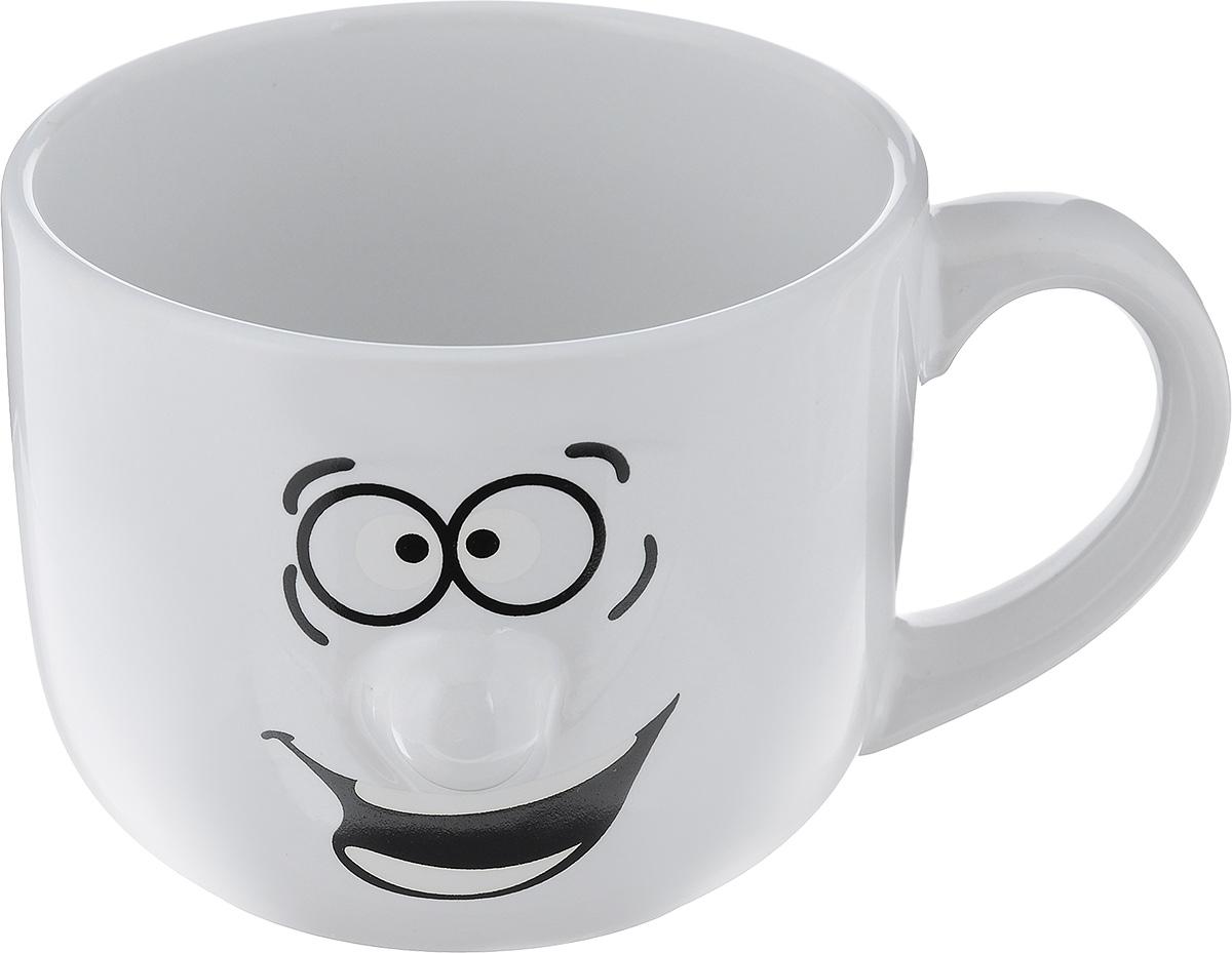 Кружка Walmer Smiley, цвет: белый, 400 мл54 009312Кружка Walmer Smiley выполнена из керамики и оформлена изображением забавного смайлика. Она станет отличным дополнением к сервировке семейного стола и замечательным подарком для ваших родных и друзей.Диаметр кружки по верхнему краю: 10 см.Высота кружки: 8 см.Не рекомендуется применять абразивные моющие средства.