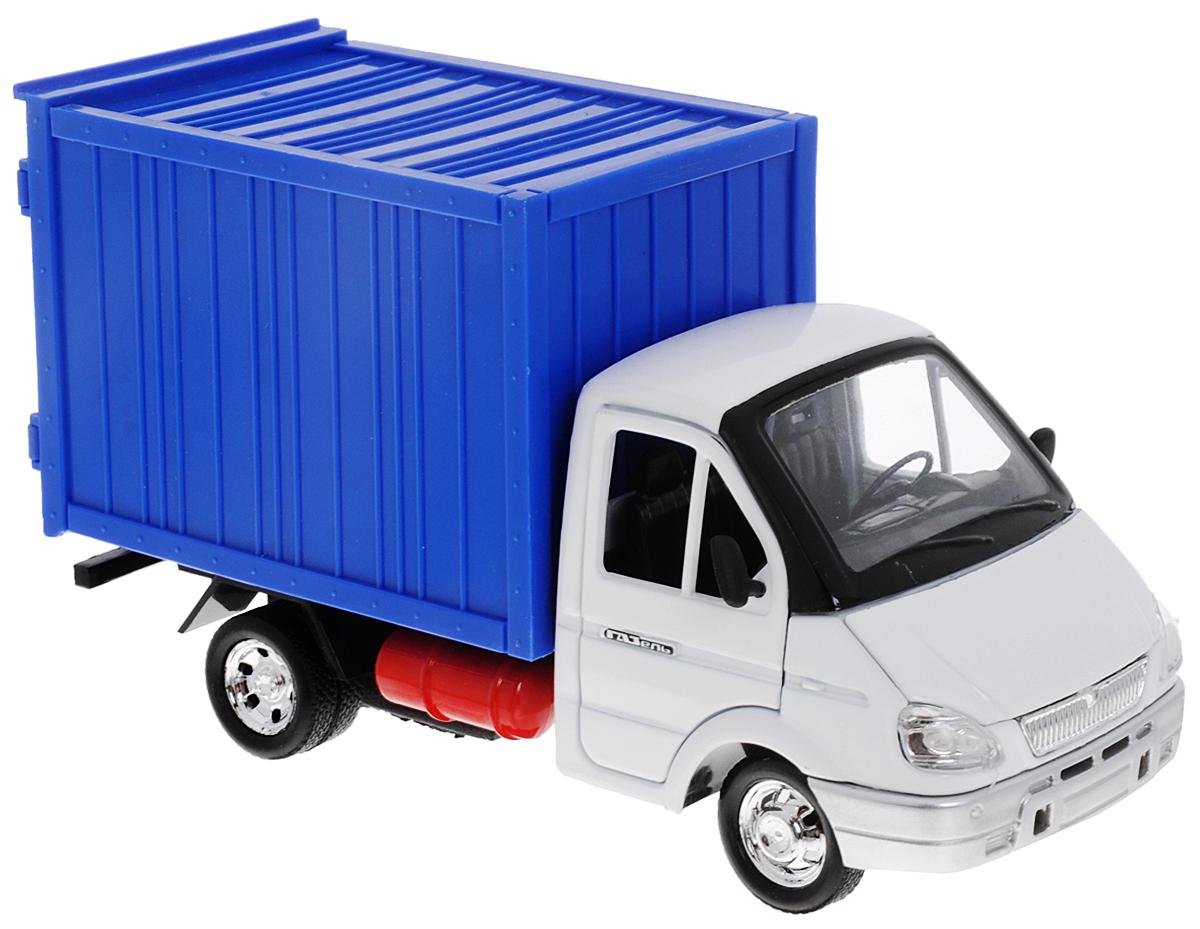 """Модель автомобиля ТехноПарк """"Газель"""" - это копия настоящего автомобиля в масштабе 1:43. """"Газель"""" - серия бортовых автомобилей и шасси с кабиной. Данные автомобили получили широкое распространение в городских условиях, а также в сельской местности за счет своей динамичности, малых форм и достаточно значительной грузоподъемности (до 1500 кг). Погрузочная высота автомобиля составляет всего 1 метр, что существенно облегчает работу по загрузке кузова. Автомобиль """"Газель"""" относится к классу малотоннажных грузовых автомобилей, имеющих полную массу, не превышающую 3,5 тонны, что позволяет эксплуатировать их водителем, имеющим права управления легковым автомобилем. Передние двери модели, капот, а также двери кузова открываются. Модель оснащена инерционным механизмом: стоит немного отвести машинку назад и отпустить - она быстро поедет вперед. Модель автомобиля ТехноПарк """"Газель"""" станет отличным подарком как для юных любителей техники, так и для взрослых коллекционеров."""