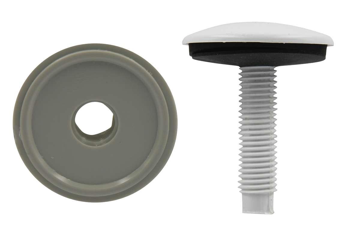 Заглушка на умывальник Masterprof, цвет: белый, диаметр 50 ммSWH RS1 100 VHЗаглушка на умывальник Masterprof предназначена для установки вместо смесителя на раковину или умывальник. Закрывает отверстие, если вы не устанавливаете смеситель на раковину.Диаметр: 50 мм.