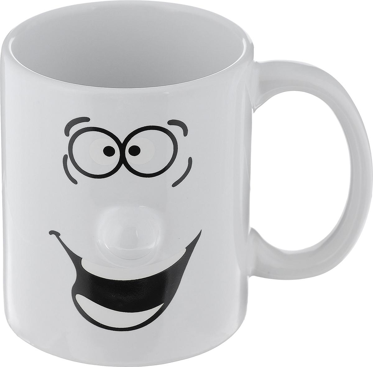 Кружка Walmer Smiley, цвет: белый, 300 мл115510Кружка Walmer Smiley выполнена из керамики и оформлена изображением забавного смайлика. Она станет отличным дополнением к сервировке семейного стола и замечательным подарком для ваших родных и друзей.Не рекомендуется применять абразивные моющие средства.Диаметр кружки по верхнему краю: 8 см.Высота кружки: 9,5 см.