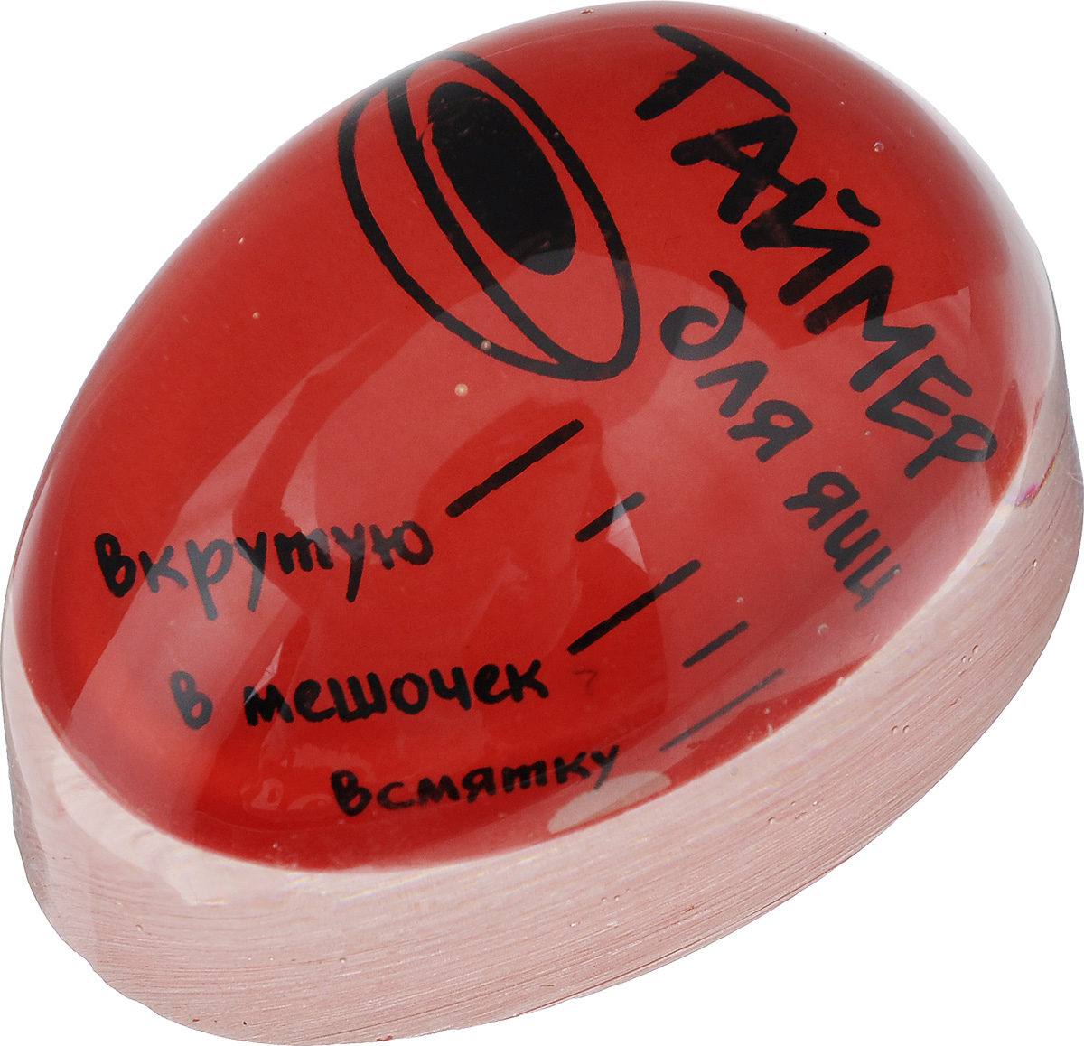 Таймер для варки яиц Miolla, цвет: красный391602Таймер для варки яиц Miolla поможет приготовить яйца в нужном вам виде. Изделие выполнено из высококачественного пластика. Использовать таймер очень просто. Налейте в кастрюлю холодную воду, положите необходимое количество яиц, поместите туда таймер и поставьте на газовую плиту. В процессе варки таймер начнет изменять цвет от внешнего контура. Достижение контуром определенного деления (всмятку, в мешочек, вкрутую) означает соответствующую степень готовности яиц. Оригинально и просто!