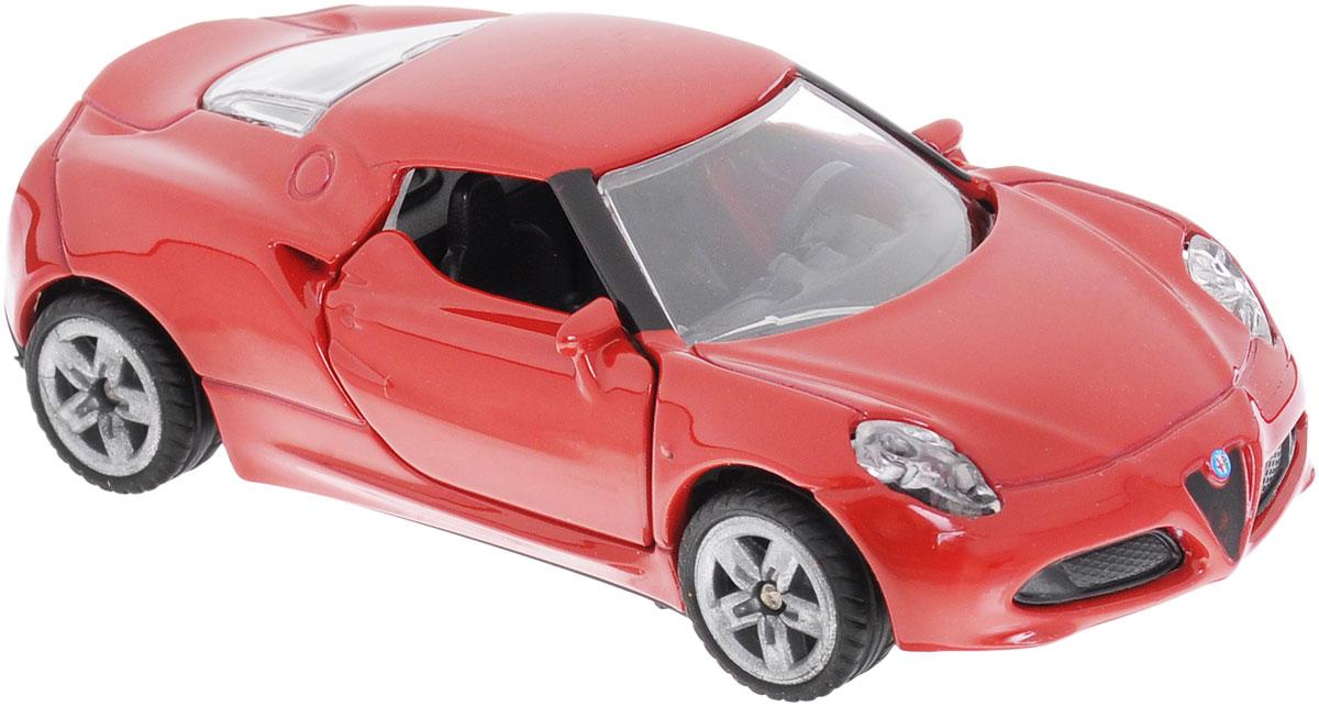 """Модель автомобиля Siku """"Alfa Romeo 4C"""" станет замечательным подарком для любителей техники всех возрастов. Модель представляет собой реалистичную копию компактного двухместного спорткара """"Alfa Romeo 4C"""" с двигателем мощностью 240 лошадиных сил. Модель отличается высокой степенью детализации. Корпус модели выполнен из металла, детали изготовлены из ударопрочной пластмассы. Дверцы машинки открываются, прорезиненные колеса вращаются. Ваш ребенок часами будет играть с такой игрушкой, придумывая различные истории и устраивая соревнования."""