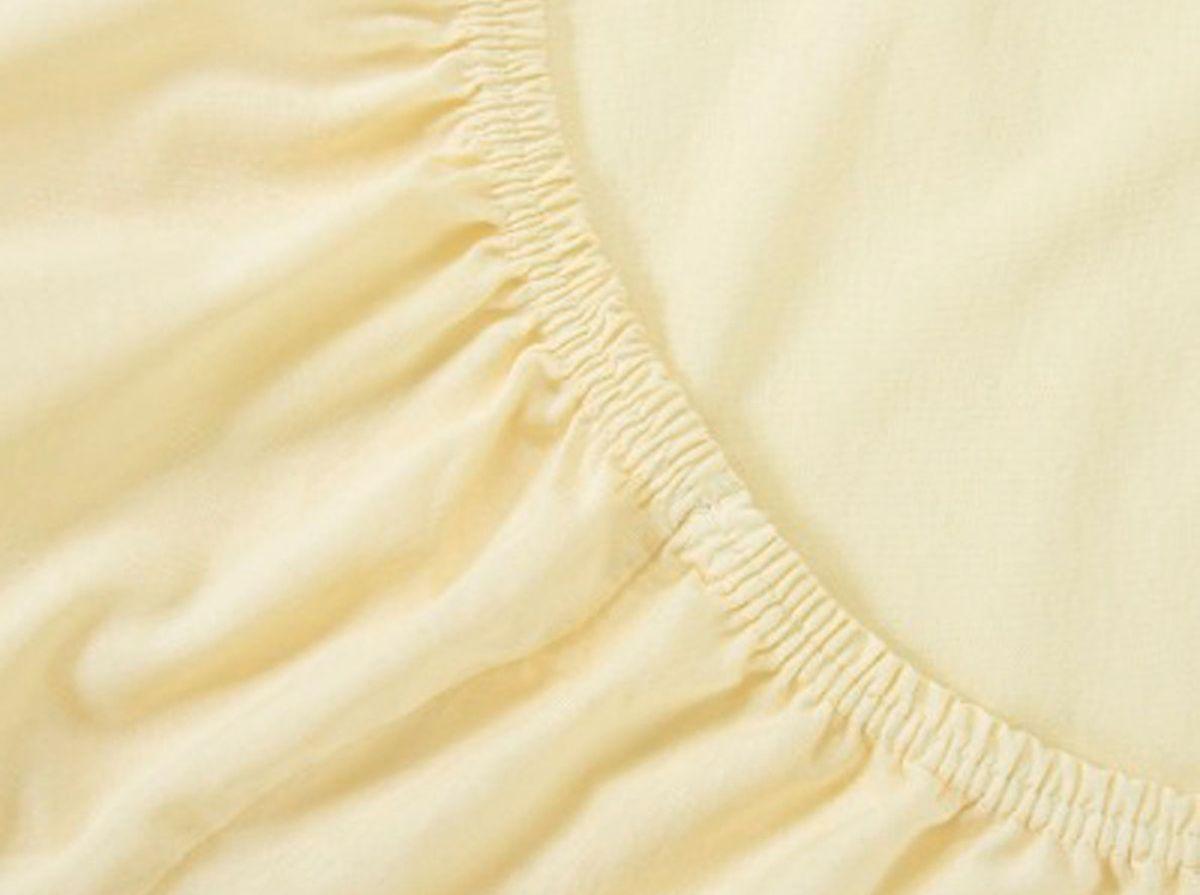 Простыня на резинке Хлопковый Край, цвет: молоко, размер 200 х 200 см531-105Бренд: Хлопковый Край. Чебоксары, Россия Коллекция: Радуга желаний Материал: ТРИКОТАЖ (кулирка)-100% хлопок; Плотность 125 гр/м2- нежное, гладкое и прочное; Активное крашение - простынь не теряет цвет; Гиппоалергенно и безопасно даже для детей; Стойкое к стиркам - не образуются катышки Высота бортика 20 см - подходит для 99% матрасов; Резинка по всему периметру - идеально садится на матрас; Сертификат ЕАС и знак Eco Friendly