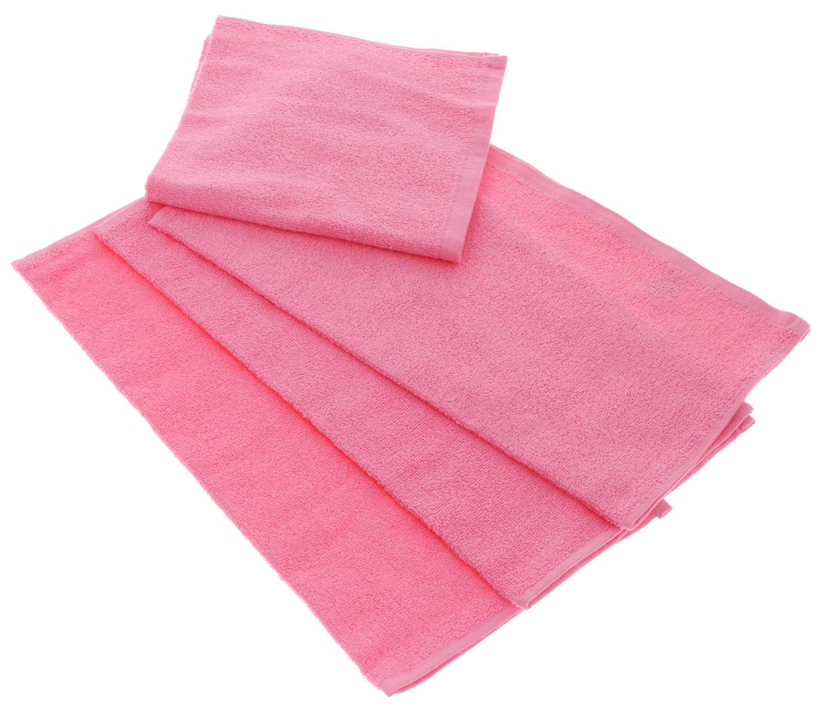 Набор махровых полотенец Aisha Home Textile, цвет: розовый, 40 х 40 см, 4 штS03301004Набор Aisha Home Textile состоит из 4 махровых полотенец, выполненных из натурального 100% хлопка. Изделия отлично впитывают влагу, быстро сохнут, сохраняют яркость цвета и не теряют формы даже после многократных стирок.Полотенца Aisha Home Textile очень практичны и неприхотливы в уходе. Комплектация: 4 шт.