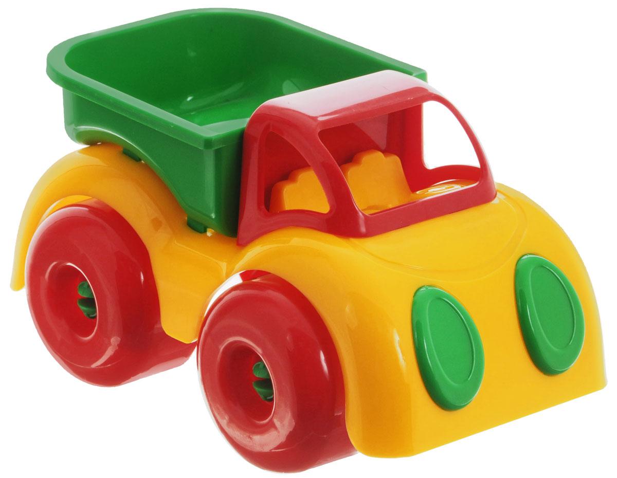 """Грузовик """"Малышок"""" обязательно понравится вашему малышу. Игрушка выполнена из безопасного пластика ярких цветов. Грузовик не имеет острых углов, а значит, в него могут играть даже самые маленькие любители техники. Большие колеса обеспечивают хорошую проходимость. Игрушка """"Малышок"""" способствует развитию у ребенка цветового восприятия, мелкой моторики рук и координации движений."""