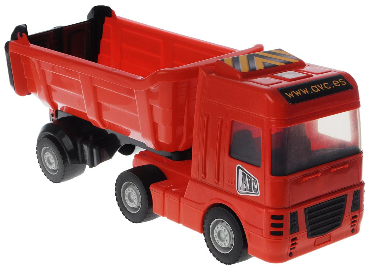 AVC Грузовик цвет красный аппликация на магнитике грузовик