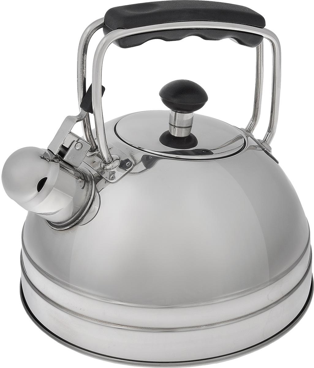 Чайник со свистком Vitesse Odina, 2,5 лVT-1520(SR)Чайник Vitesse Odina выполнен из высококачественной нержавеющей стали 18/10 с зеркальной полировкой. Капсулированное дно с прослойкой из алюминия обеспечивает наилучшее распределение тепла. Носик чайника оснащен откидной насадкой-свистком, что позволит вам контролировать процесс подогрева или кипячения воды. Ручка чайника изготовлена из бакелита. Она имеет фиксированное положение. Чайник Vitesse Odina подходит для использования на всех типах плит. Также изделие можно мыть в посудомоечной машине. Характеристики: Материал: нержавеющая сталь 18/10, бакелит.Диаметр основания чайника: 20 см.Высота чайника (с учетом крышки и ручки):21 см.Объем:2,5 л.Размер упаковки:20,5 см х 22 см х 20,5 см. Артикул:VS-1105.Кухонная посуда марки Vitesseиз нержавеющей стали 18/10 предоставит вам все необходимое для получения удовольствия от приготовления пищи и принесет радость от его результатов. Посуда Vitesse обладает выдающимися функциональными свойствами. Легкие в уходе кастрюли и сковородки имеют плотно закрывающиеся крышки, которые дают возможность готовить с малым количеством воды и экономией энергии, и идеально подходят для всех видов плит: газовых, электрических, стеклокерамических и индукционных. Конструкция дна посуды гарантирует быстрое поглощение тепла, его равномерное распределение и сохранение. Великолепно отполированная поверхность, а также многочисленные конструктивные новшества, заложенные во все изделия Vitesse, позволит вам открыть новые горизонты приготовления уже знакомых блюд. Для производства посуды Vitesseиспользуются только высококачественные материалы, которые соответствуют международным стандартам.