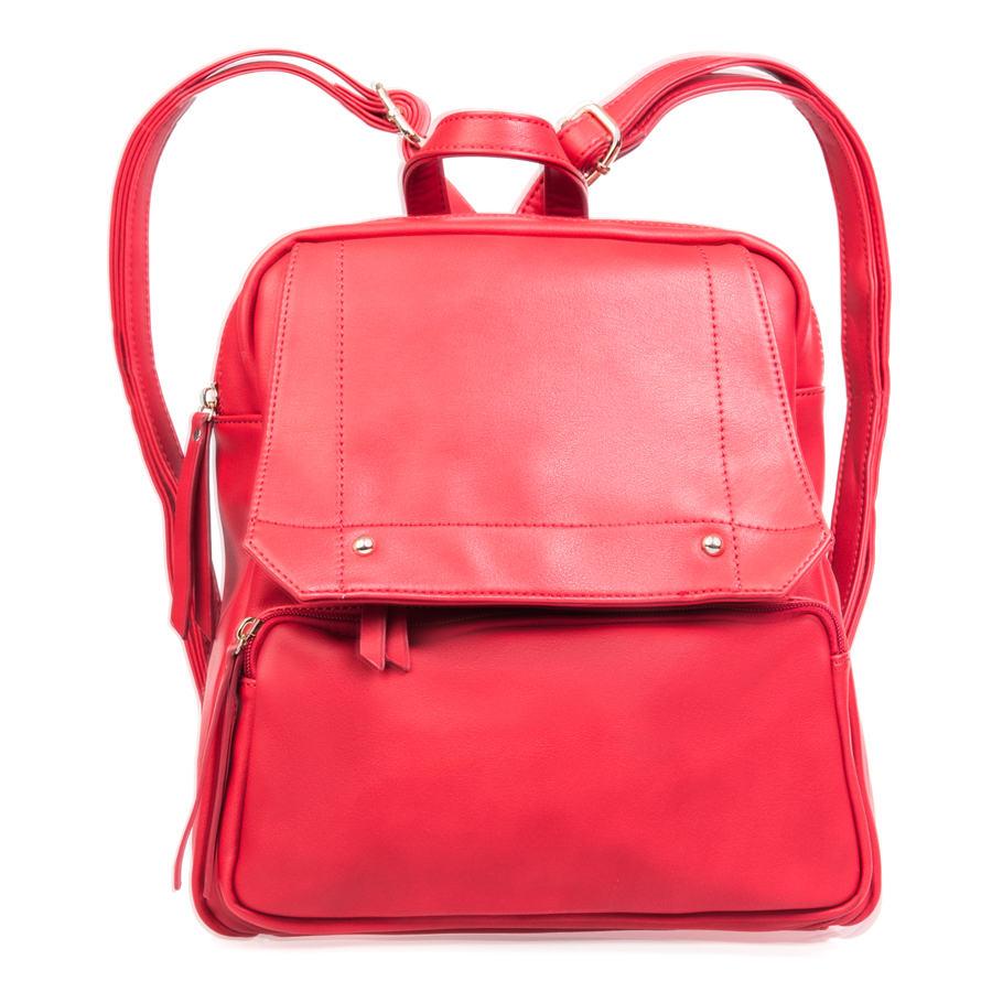 Рюкзак женский Orsa Oro, цвет: красный. D-142/13S76245Стильный женский рюкзак Orsa Oro выполнен из искусственной кожи, оформлен металлической фурнитурой.Изделие содержит отделение, закрывающееся на застежку-молнию. Внутри расположены два накладных кармашка для мелочей и врезной карман на молнии. Лицевая сторона рюкзака дополнена клапаном, под которым расположен врезной карман на молнии, и накладным карманом на застежке-молнии. Задняя сторона изделия дополнена врезным карманом на застежке-молнии. Рюкзак оснащен удобными лямками регулируемой длины и петлей для подвешивания.Оригинальный аксессуар позволит вам завершить образ и быть неотразимой.