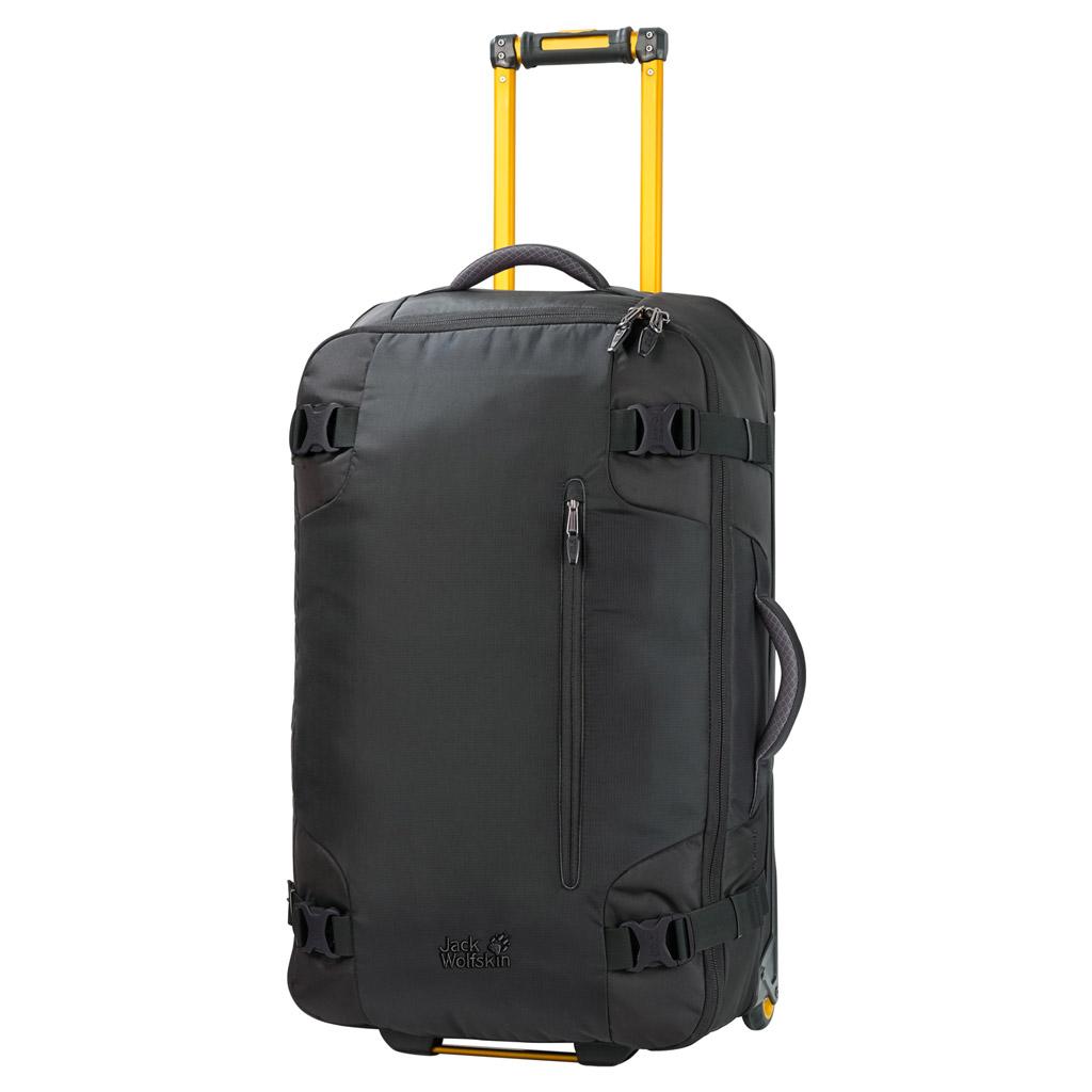 Чемодан Jack Wolfskin Railman 80, цвет: черный. 2003322-60002003322-6000Чемодан Jack Wolfskin Railman 80. Чемодан на колесиках с множеством отделений подходит для долгой поездки. Доступ к основному отделению возможен сверху и сбоку. Открывая его как обычный чемодан, можно быстро осмотреть все уложенные вещи. Во внутреннем пространстве чемодана используется каждый уголок, так как даже ручка и колесики размещены очень компактно.Материал чемодана, покрытый термополиуретаном, является водоотталкивающим и особо прочным. Необычные цветовые решения придают этому чемодану на колесиках неповторимую индивидуальность.
