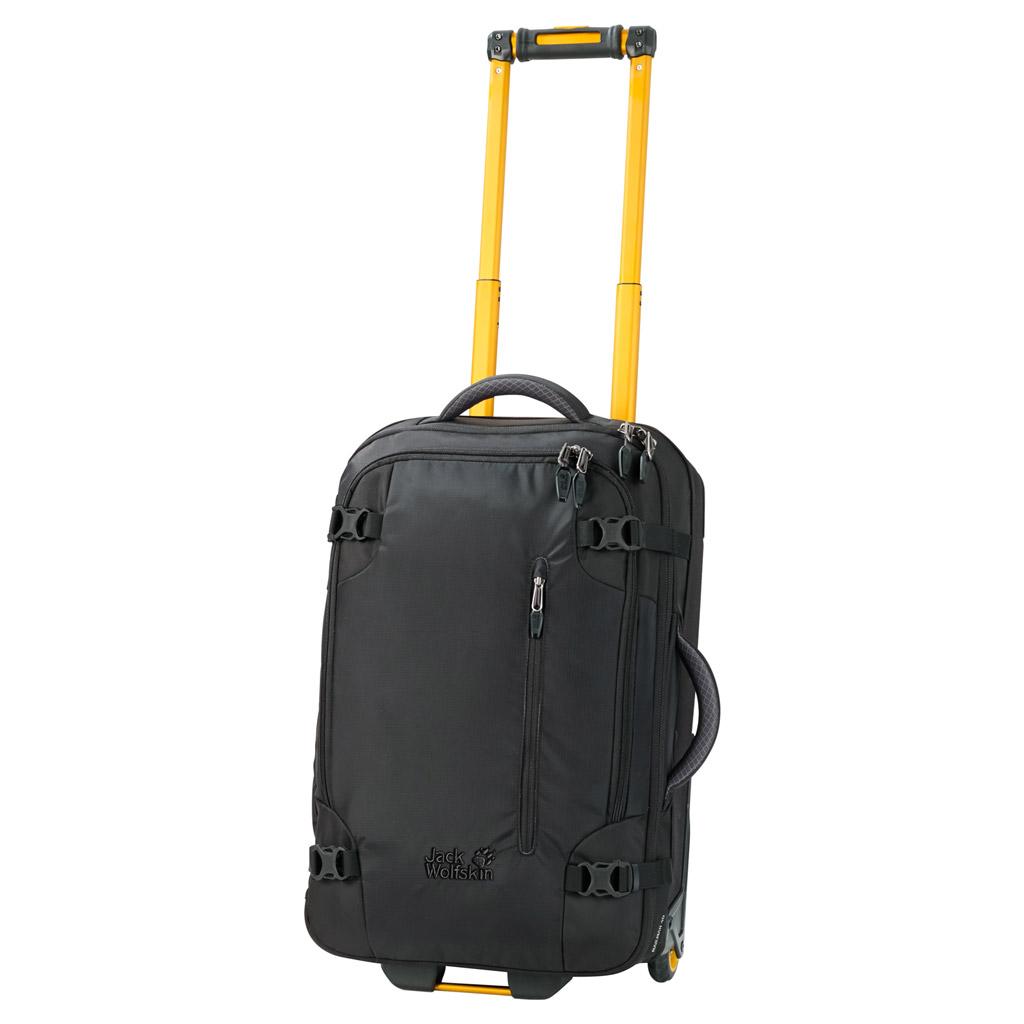 Чемодан Jack Wolfskin Railman 40, цвет: черный. 2003333-60002003333-6000Чемодан Jack Wolfskin Railman 40. Чемодан на колесиках с множеством отделений подходит для долгой поездки. Доступ к основному отделению возможен сверху и сбоку. Открывая его как обычный чемодан, можно быстро осмотреть все уложенные вещи. Во внутреннем пространстве чемодана используется каждый уголок, так как даже ручка и колесики размещены очень компактно.Материал чемодана, покрытый термополиуретаном, является водоотталкивающим и особо прочным. Необычные цветовые решения придают этому чемодану на колесиках неповторимую индивидуальность.