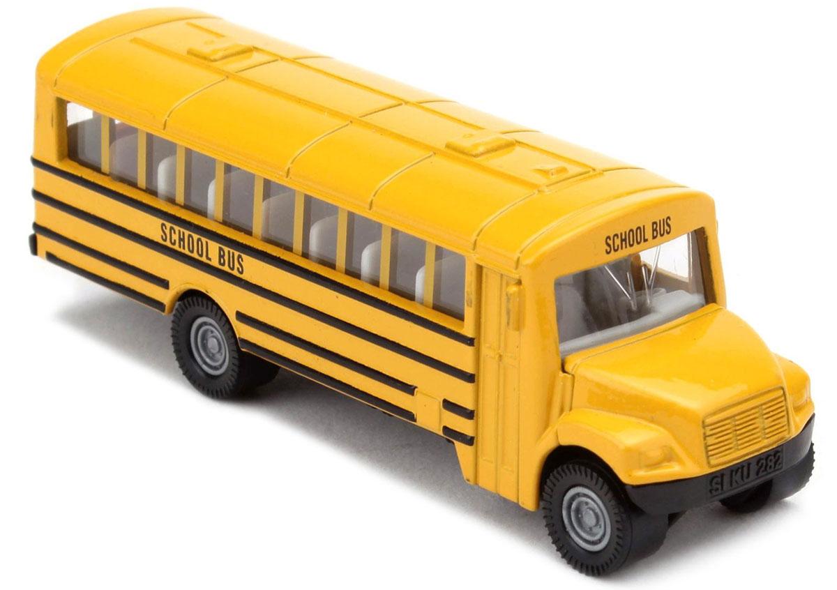 """Автобус Siku """"US School Bus"""" обязательно привлечет внимание вашего ребенка. Модель выполнена из металла с элементами из пластика; прорезиненные колеса имеют свободный ход. Автобус станет не только интересной игрушкой для ребенка, но и займет достойное место в коллекции. Порадуйте его таким замечательным подарком!"""