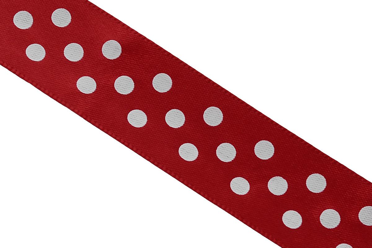 Лента атласная Dekor Line Горошек, цвет: красный, белый, 2,5 х 300 смC0042416Атласная лента Dekor Line Горошек выполнена из высококачественного полиэстера. Область применения атласной ленты весьма широка. Лента предназначена для оформления цветочных букетов, подарочных коробок, пакетов. Кроме того, она с успехом применяется для художественного оформления витрин, праздничного оформления помещений, изготовления искусственных цветов. Ее также можно использовать для творчества в различных техниках, таких как скрапбукинг, оформление аппликаций, для украшения фотоальбомов, подарков, конвертов, фоторамок, открыток и прочего.Ширина ленты: 2,5 см.Длина ленты: 3 м.