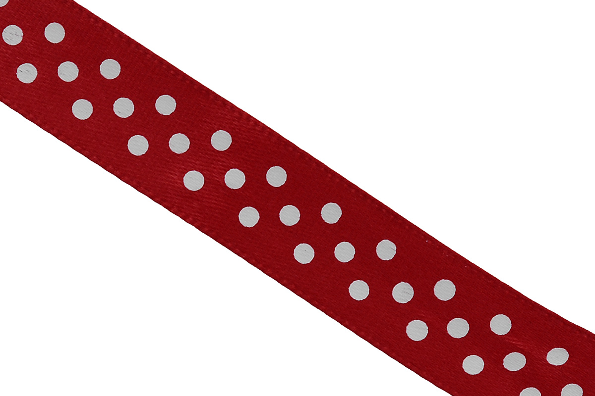 Лента атласная Dekor Line Горошек, цвет: красный, белый, 1,5 х 300 см697068_97Атласная лента Dekor Line Горошек выполнена из высококачественного полиэстера. Область применения атласной ленты весьма широка. Лента предназначена для оформления цветочных букетов, подарочных коробок, пакетов. Кроме того, она с успехом применяется для художественного оформления витрин, праздничного оформления помещений, изготовления искусственных цветов. Ее также можно использовать для творчества в различных техниках, таких как скрапбукинг, оформление аппликаций, для украшения фотоальбомов, подарков, конвертов, фоторамок, открыток и прочего.Ширина ленты: 1,5 см.Длина ленты: 3 м.