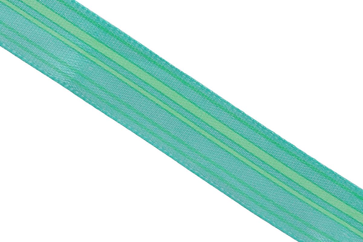 Лента атласная Dekor Line Горизонталь, цвет: зеленый, светло-зеленый, 1,5 х 300 см55052Атласная лента Dekor Line Горизонталь выполнена из высококачественного полиэстера. Область применения атласной ленты весьма широка. Лента предназначена для оформления цветочных букетов, подарочных коробок, пакетов. Кроме того, она с успехом применяется для художественного оформления витрин, праздничного оформления помещений, изготовления искусственных цветов. Ее также можно использовать для творчества в различных техниках, таких как скрапбукинг, оформление аппликаций, для украшения фотоальбомов, подарков, конвертов, фоторамок, открыток и прочего.Ширина ленты: 1,5 см.Длина ленты: 3 м.
