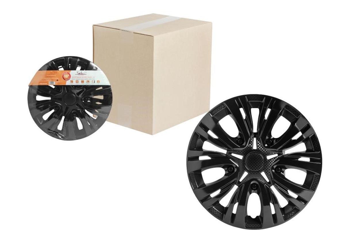 Колпаки колесные Airline Лион, цвет: черный глянец, 15, 2 шт. AWCC-15-044603726128094Колпаки колесные Airline Лион изготовлены из ударопрочного полистирола, имеют модную текстуру, имитирующую карбон, покрашены в популярные цвета, а также стойкие к повышенным и пониженным температурам. Колпаки снабжены надежными универсальными креплениями, позволяющими обеспечивать равномерное распределение давления на все защелки. Колпаки Airline защитят тормозную систему от грязи, соли и реагентов, скроют изъяны штампованных дисков, тем самым украсив ваш автомобиль.