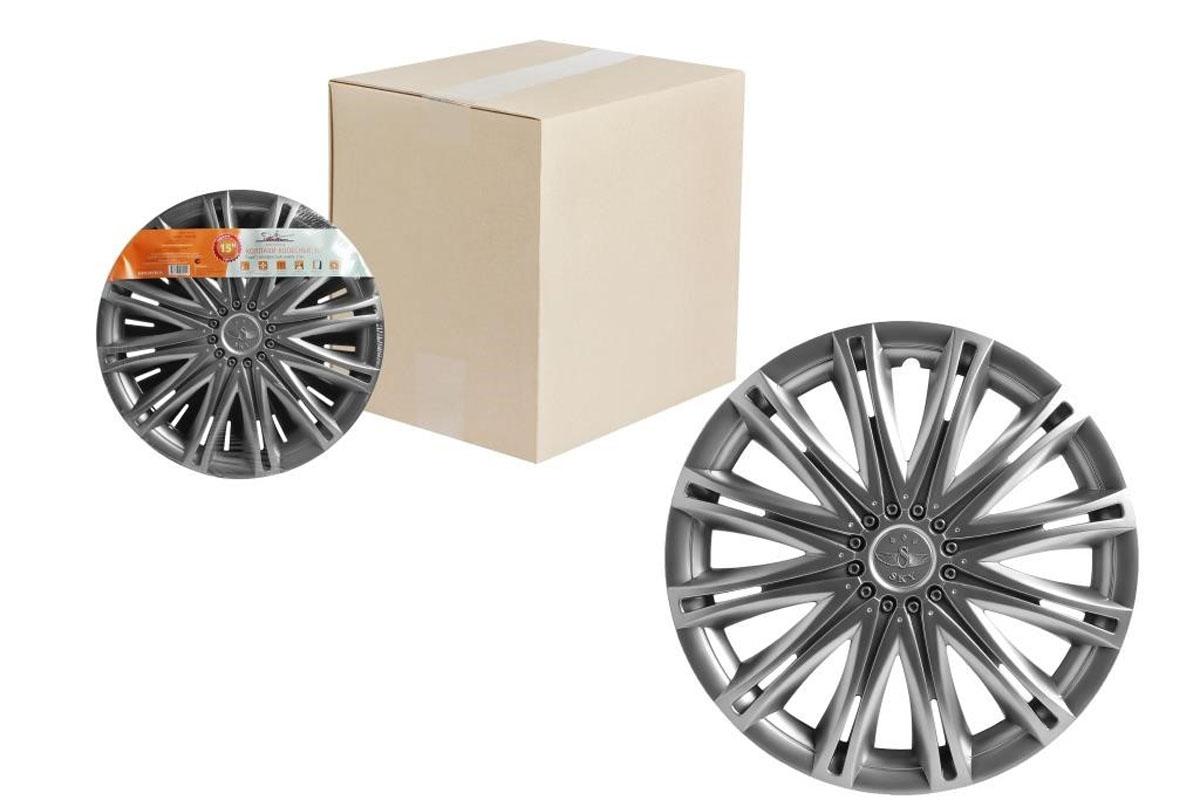 Колпаки колесные Airline Скай, цвет: серебристый, 15, 2 шт. AWCC-15-11AWCC-15-04Колпаки колесные Airline Скай изготовлены из ударопрочного полистирола, имеют модную текстуру, имитирующую карбон, покрашены в популярные цвета, а также стойкие к повышенным и пониженным температурам. Колпаки снабжены надежными универсальными креплениями, позволяющими обеспечивать равномерное распределение давления на все защелки. Колпаки Airline защитят тормозную систему от грязи, соли и реагентов, скроют изъяны штампованных дисков, тем самым украсив ваш автомобиль.