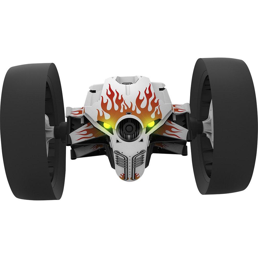 Гоночный прыгающий робот Parrot MiniDrone Jumping Race Jett – удивительная игрушка, способная заинтересовать и детей, и взрослых. Он управляется со смартфона или планшета, мгновенно выполняет любые команды, способен совершать прыжки на 75 см в длину и высоту, развивать скорость до невероятных 14 км/ч, совершать повороты на 90° и 180° менее чем за секунду и даже вращаться на 360°. Простор для развлечений. Заряда встроенного аккумулятора хватит на 20 минут гонок на безумных скоростях. 14 км/ч только кажутся несерьезной цифрой, а на самом деле оказывается, что малютка-робот стремительнее ветра. Широкие колеса увеличивают проходимость и управляемость. Выражение настроения. Робот может высказать свое мнение о манере управления владельца – для этого разработчики научили его использовать звуковые сигналы. Глазами робота. Parrot MiniDrone Jumping Race Jett оснащен широкоугольной камерой и модулем Wi-Fi, обеспечивающим передачу потокового видео на смартфон или планшет владельца, поэтому в...