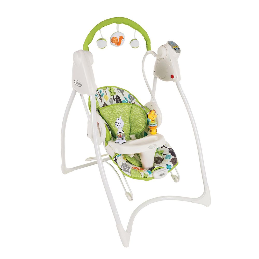 Graco Качели 2-в-1 Swing n Bounce Bear Trail -
