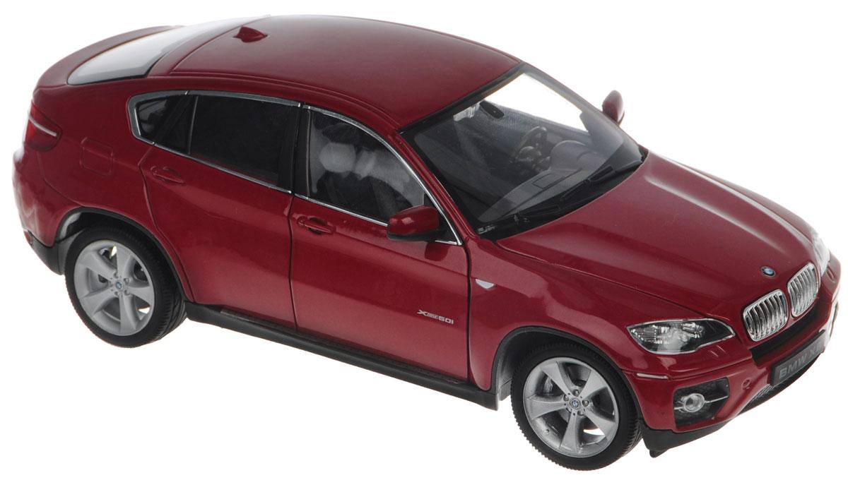 """Модель автомобиля Welly """"BMW X6"""" - отличный подарок как ребенку, так и взрослому коллекционеру. Благодаря броской внешности, а также великолепной точности, с которой создатели этой модели масштабом 1:24 передали внешний вид настоящего автомобиля, модель станет подлинным украшением любой коллекции авто. Машина будет долго служить своему владельцу благодаря металлическому корпусу с элементами из пластика. Передние дверцы машины открываются, шины обеспечивают отличное сцепление с любой поверхностью пола. Модель автомобиля Welly """"BMW X6"""" обязательно понравится вашему ребенку и станет достойным экспонатом любой коллекции."""