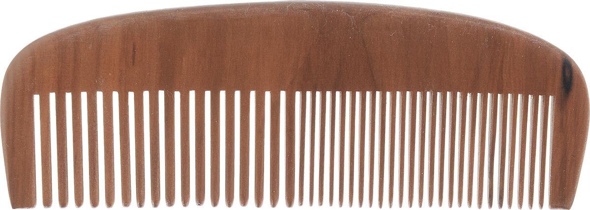 Расческа-гребеньVortex, цвет: коричневый, длина 15 смЗХл_черный, оранжевыйДеревянная расческа-гребеньVortex незаменима в повседневном уходе за волосами. Сторона с редкими зубцами легко распутает ваши волосы, а, расчесывая волосы стороной с частыми зубцами, вы придадите им блеск и ухоженный вид. Помогает справиться даже с сухими и непослушными волосами. Идеальна для укладки.Расческа легко моется и быстро сохнет.Размер расчески: 15 см х 5 см х 0,8 см.