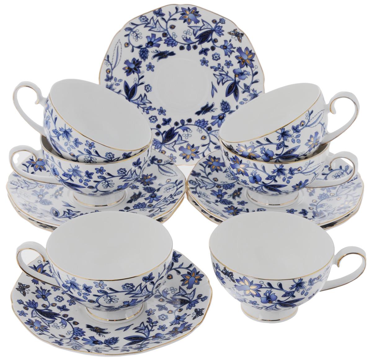Набор чайный Elan Gallery Изысканность, 12 предметовVT-1520(SR)Чайный набор Elan Gallery Изысканностьсостоит из 6 чашек и 6 блюдец. Изделия, выполненные из высококачественной керамики, имеют элегантный дизайн и классическую круглую форму.Такой набор прекрасно подойдет как для повседневного использования, так и для праздников. Чайный набор Elan Gallery Изысканность - это не только яркий и полезный подарок для родных и близких, а также великолепное решение для вашей кухни или столовой. Не использовать в микроволновой печи.Объем чашки: 250 мл. Диаметр чашки (по верхнему краю): 10 см. Высота чашки: 6,5 см.Размер блюдца (по верхнему краю): 16,5 х 16,5 см.Высота блюдца: 2 см.