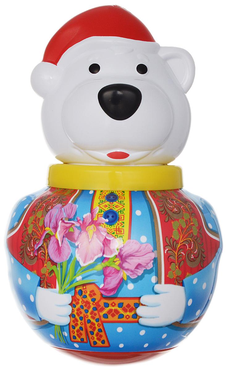 Stellar Неваляшка Белый медведь Борис с цветами stellar неваляшка белый медведь борис с балалайкой