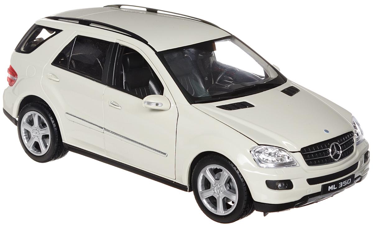 """Стильная модель автомобиля """"Mercedes-Benz ML350"""" привлечет внимание не только ребенка, но и взрослого. Модель является точной уменьшенной копией известного автомобиля, у нее открываются двери, а также поднимаются капот и багажник. Колеса машинки поворачиваются вместе с рулем. Корпус машинки выполнен из металла, а шины из настоящей резины. Такая модель станет отличным подарком не только любителю автомобилей, но и человеку, ценящему оригинальность и изысканность, а качество исполнения представит такой подарок в самом лучшем свете."""