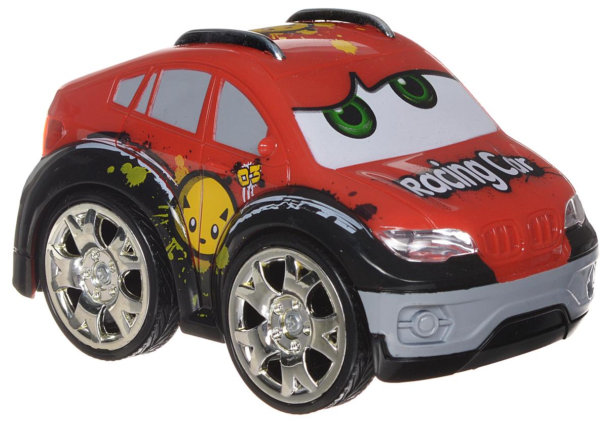 """Яркая радиоуправляемая мини машинка станет отличным подарком для вашего малыша. Маленькая маневренная машинка, которой можно дистанционно управлять - что может быть лучше! С ней ваш ребенок проведет множество незабываемых мгновений. В помощью пульта, машинка может поворачивать вправо-влево, двигаться вперед-назад и вставать на задние колеса. Яркие фары этой машинки позволят устраивать увлекательные заезды даже в темное время суток. Машинка обтекаемой формы, не имеет острых углов.  В комплекте: радиоуправляемый автомобиль, пульт дистанционного управления, антенна, инструкция на русском языке.Для работы машинки требуется 3 батарейки типа 1,5V АAА (не входят в комплект). Для работы пульта требуется 1 батарейка 9V """"Крона"""" (не входит в комплект)."""
