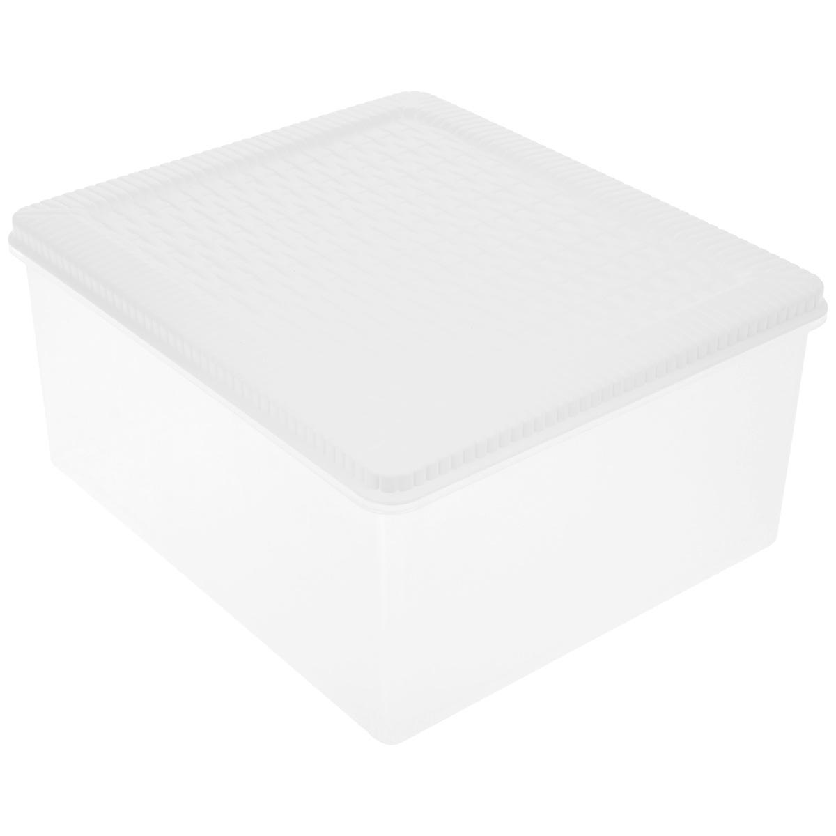 Контейнер хозяйственный Gensini Rattan, с крышкой, цвет: белый, прозрачный, 10 лES-412Универсальный контейнер Gensini Rattan прямоугольной формы прекрасно подойдет для хранения небольших игрушек в детской комнате, бумаг и документов, инструментов и многого другого. Он изготовлен из высококачественного пластика. Благодаря прозрачности вы всегда сможете видеть содержимое контейнера и без труда отыщите нужную вам вещь. Контейнер плотно закрывается крышкой. Удобный и легкий контейнер позволит вам хранить вещи в полном порядке, а благодаря современному дизайну он впишется в любой интерьер.