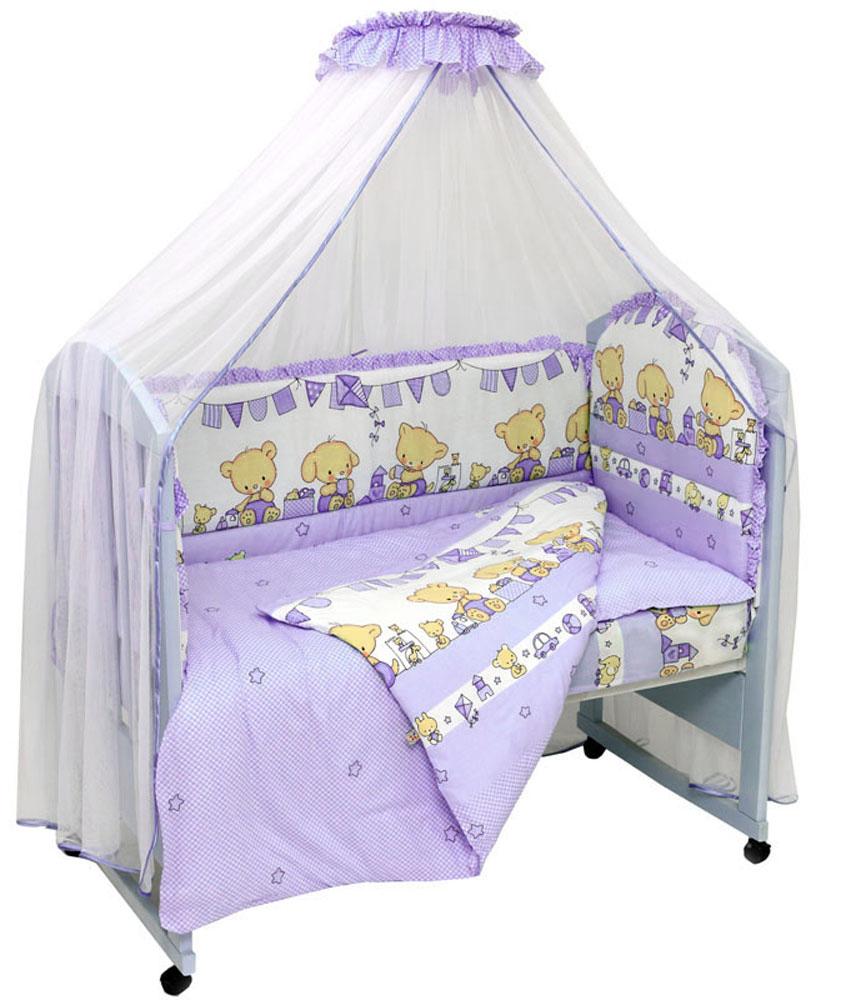 Топотушки Комплект белья для новорожденных Звездочка цвет фиолетовый 3 предмета