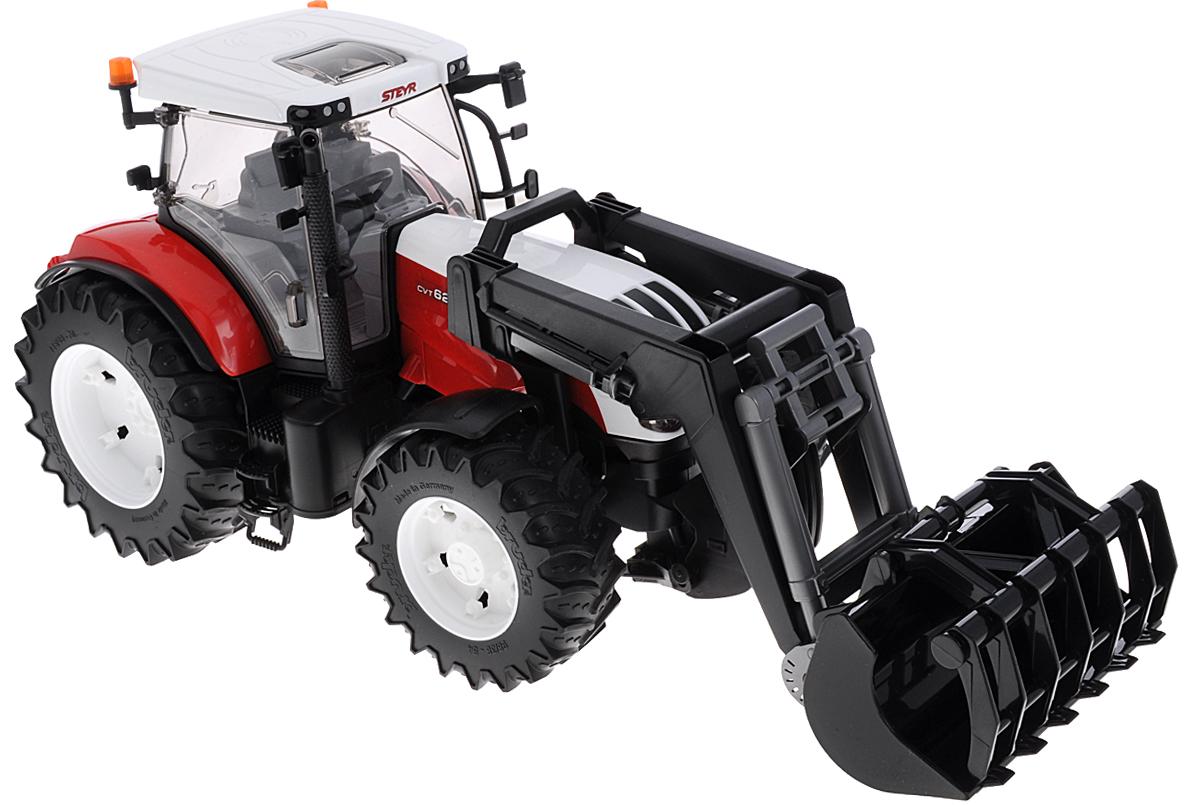 Bruder Трактор Steyr CVT 6230 с погрузчиком игрушка bruder fendt favorit 926 vario трактор с погрузчиком 02 062