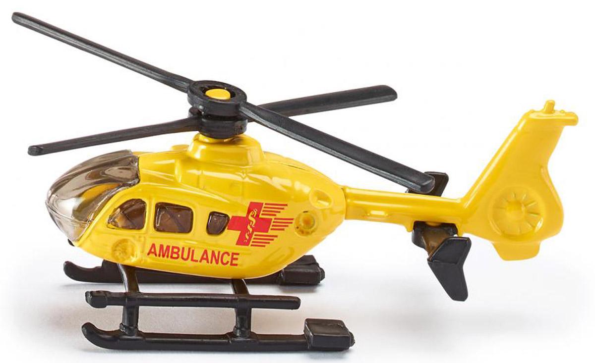 """Вертолет Siku """"Ambulance"""" выполнен из металла с элементами из пластика. Несущий винт вертолета крутится. Такая модель понравится не только ребенку, но и взрослому коллекционеру, и приятно удивит вас высочайшим качеством исполнения. Вертолет станет интересной игрушкой для ребенка, интересующегося летательными аппаратами, и займет достойное место в коллекции."""