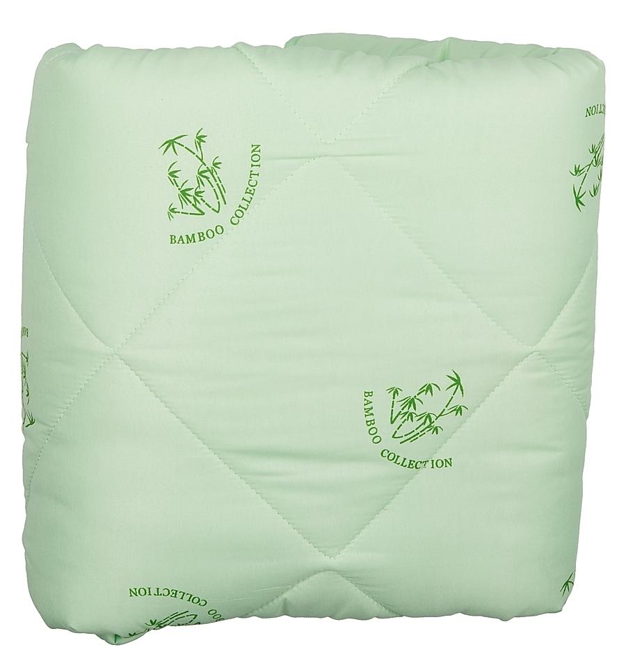 Одеяло Letto бамбук, цвет: зеленый, размер: 170 x 215 см22(23)341_белыйБамбуковое одеяло Letto подарит вам тепло, комфорт и создаст приятную атмосферу в спальне. Универсальное одеяло (имеет 3,5 балла по 5 бальной шкале) прекрасно подойдет для теплых квартир, и для тех, кто предпочитает более легкие одеяла зимой. При этом оно достаточно теплое и для переходных сезонов. Одеяло выполнено из современных наполнителей, его легко стирать, оно быстро сохнет, а плотная стежка не позволяет одеялу сбиваться, - то, что нужно на каждый день. Светлый чехол немаркий и не просвечивается через белье. Наполнитель: смесовое волокно 20% бамбук, 80% файбер; челох: полиэстер.