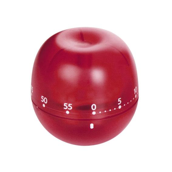 Таймер кухонный Tescoma Фрукт. Яблоко, цвет: красный, на 60 мин